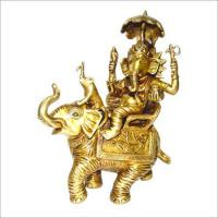 China Hindu God Ganesha Brass Statues on sale
