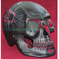 Wholesale Black 3D Airbrush Skeleton Full Face Motorcycle Helmet from china suppliers