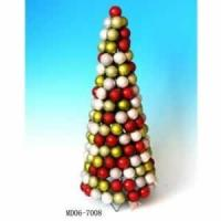 Buy cheap Red Candy Cane Shatterproof Christmas Ball Ornament Table Top Cone Tree from wholesalers