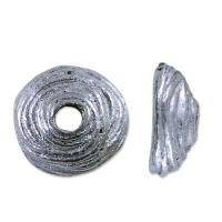 Buy cheap bead cap swirl 4mm pewter antique silver plated 1 pc