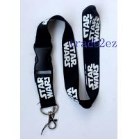 Wholesale 201662720323Star Wars White Logo Lanyard/Strap with buckle Black from china suppliers
