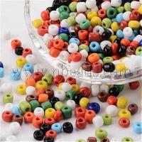 China 6/0 Opaque Colours Round Glass Seed Beads, Mixed Color, Size...(X-SEED-A010-4mm-51) on sale