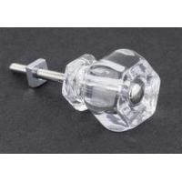 China Antique Clear Glass Knob - 1-1/4 on sale