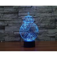 Wholesale Starwars BB8 Robot 3D Led Lamp from china suppliers