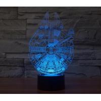 Wholesale Starwars Millennium Falcon 3D Led Lamp from china suppliers