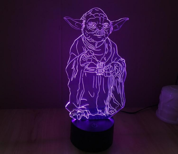 Quality Starwars Yoda Shape 3D Led Lamp for sale