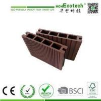 Wholesale Exterior Wide Groove WPC Decking Board , Hollow Decking Plastic Composite Deck flooring from china suppliers