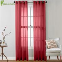 China Beautiful Two Panels Solid Buy Grommet sheer Curtains on sale