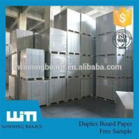 Wholesale Coated white duplex board with grey back 1.8mm from china suppliers