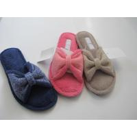 Wholesale Normal Roonshoes Anti-slip Coral Fleece Open-toed Woman Slipper from china suppliers