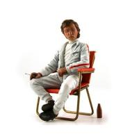 Wholesale Jochen Rindt 1960's with Campsite Seat and Soda Bottle Figurine 1/18 by Lemans Miniatures from china suppliers