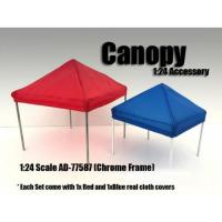 Wholesale Canopy Accessory Blue and Red with 1 Chrome Frame 1:24 Scale by American Diorama from china suppliers