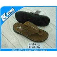 Buy cheap PU upper for Men slipper shoes from wholesalers