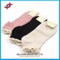 Buy cheap Summer Organic Lace Top Hold Ups Girl Bamboo Healthy Socks from wholesalers