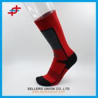 Buy cheap Fashion Red And Black Color Compression Socks from wholesalers