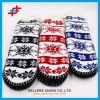 Wholesale Winter Jacquard Knitted Thick Home Grab Sole Slipper Socks from china suppliers