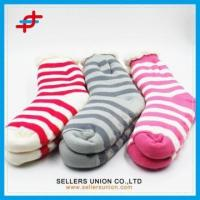 Wholesale Custom Winter Cotton Velvet Knitted Soft Indoor Home Slipper Sock from china suppliers