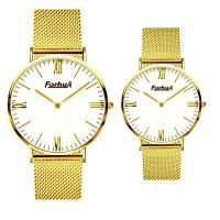 Wholesale Mesh band gold couple watch from china suppliers