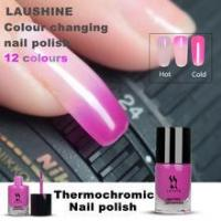 China LAUSHINE colour changing nail polish thermochromic nail polish temperature change nail polish on sale