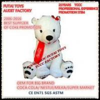 Wholesale audit factory plush bear toys polar bear with scarf for coke promotion from china suppliers