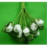Wholesale PFPR005White 0.5cm artifical paper rose from china suppliers