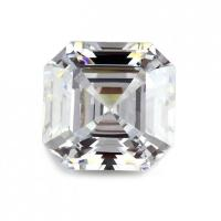 China Asscher Cut White Zircon Gemstones on sale
