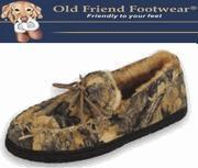 China Old Friend Footwear - Men's Camouflage Moc. - Suede Leather Sheepskin Slippers - Camouflage on sale