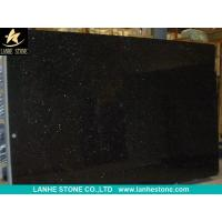 China Black Galaxy Granite Slabs Tiles India Black Granite Polished Flooring Tiles Walling Tiles for sale
