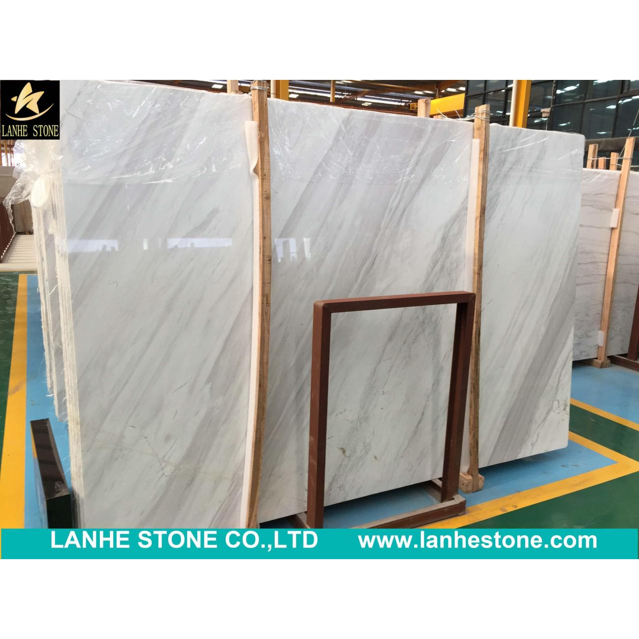China Stone Tiles Slabs Greece White Marble Volakas Marble Slabs for sale
