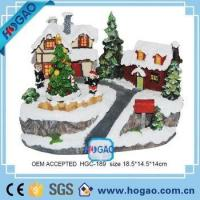 Buy cheap OEM ODM Resin Figurine Christmas House Children Decorating Christmas Trees from wholesalers