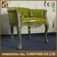 China wholesale french style antique wood furniture solid oak living room tub chair on sale