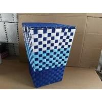 Wholesale Colorful handmade woven plastic toy storage bins from china suppliers