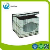 best selling products middle Lattice printing non woven multipurpose folding storage box with lid