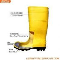 China cheap pvc men safety boots on sale