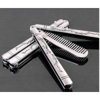 Buy cheap Handtool Wholesales Sliver Comb Multi function Stainless Steel Trainer Tool Butterfly Comb from wholesalers