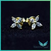 China Ring and earring Most high quality forever brilliant moissanite earrings on sale
