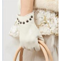 Buy cheap Women Genuine Leather Gloves Women/Ladies Fashion Leather Gloves With Rivets GY366 from wholesalers