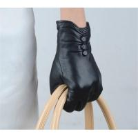 Buy cheap Women Genuine Leather Gloves Women Winter Fashion Leather Gloves With Buttons GY365 from wholesalers