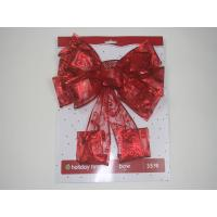 China AP8801014 Wire Edge Christmas Bow on sale