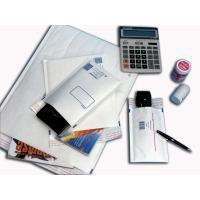 China White Elegant Print Business Envelopes , High slip Air Cushioned Mailing Bags on sale