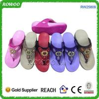 Buy cheap Colorful beach EVA girl summer slipper from wholesalers