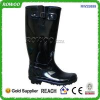Buy cheap women pvc black high fashion rain boots from wholesalers