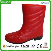 Buy cheap Lady's Red fashion rain boots from wholesalers