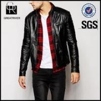 Leather Quilted Detail Biker Jacket