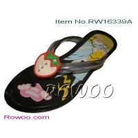 China kids sheepskin slippers RW16339A on sale