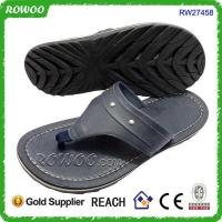 China cheap whosale New arrival hot sale leather man slipper on sale