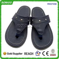Wholesale New Model High Quality Leather Cheap Mens Slippers from china suppliers