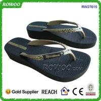 Wholesale Fashion high heel wedges beach flip flops from china suppliers
