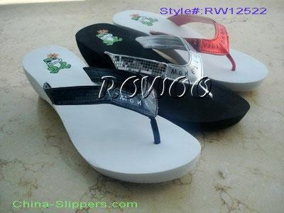 Quality Wedge-Soled Slippers RW12522 for sale