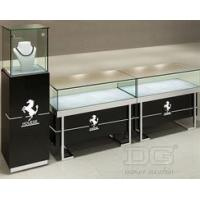 China Jewelry Showcases JE23 Black Baking Paint Glossy Custom Jewelry Display Cases on sale